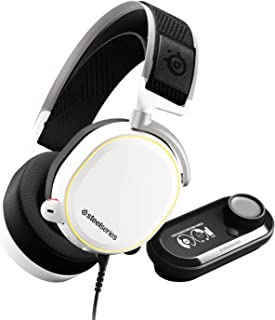 SteelSeries Arctis Pro + GameDAC Gaming Headset With Noise Cancellation Microphone - Certified Hi-Res Audio System for PS4...