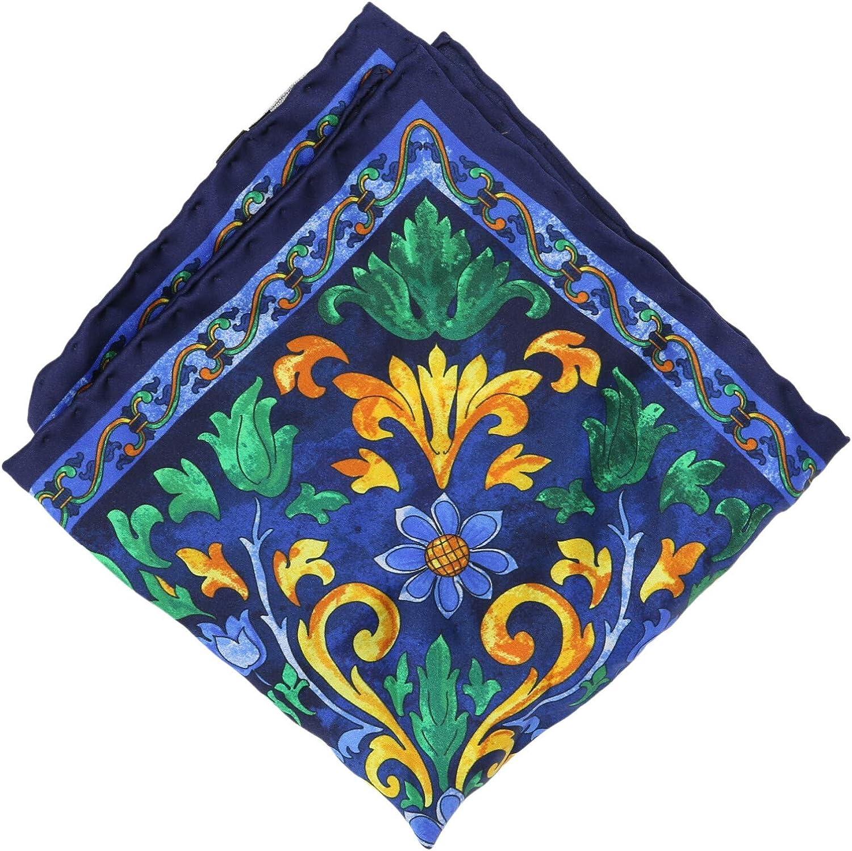 Italo Ferretti Men's Floral Silk Pocket Square