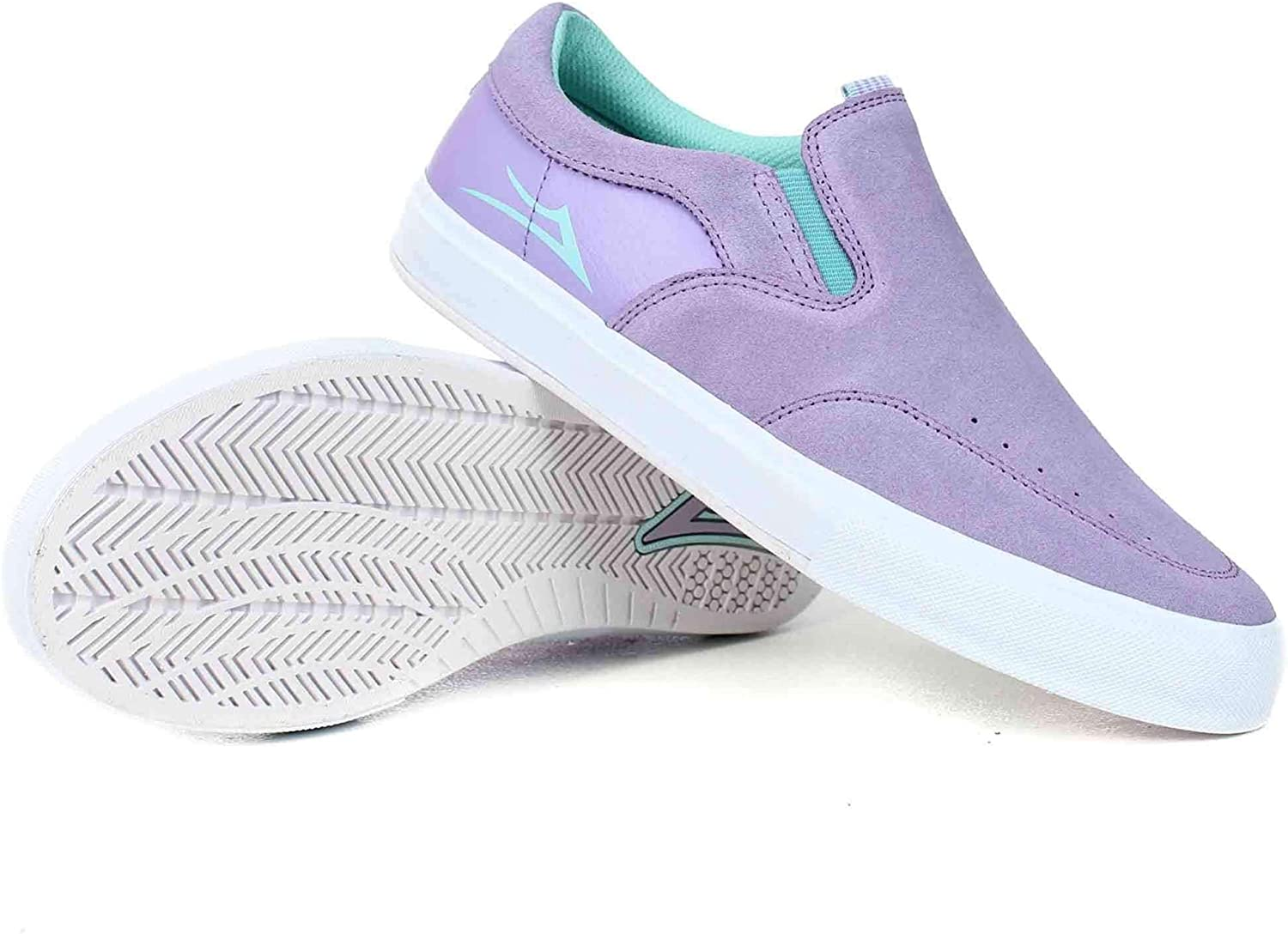 Lakai x Nico Owen VLK Slip On in Lavender Suede   New Mens Casual shoes