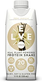 Evolve Protein Shake, Ideal Vanilla, 20g Protein, 11 Fl Oz (Pack of 12)