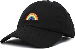 Rainbow Baseball Cap Womens Hats Cute Hat Soft Cotton Caps