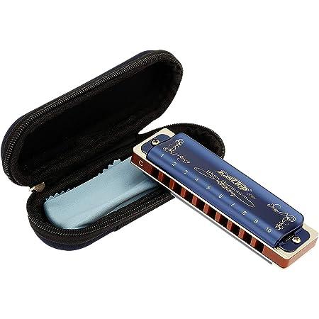 East top Harmonica adulte diatonique en Do 20 tons T008K avec étui bleu, Harmonica Blues Diatonique en do, harmonica enfant diatonict pour Débutants et étudiants, comme meilleur cadeau