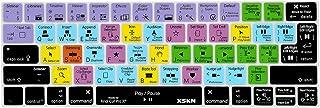XSKN Final Cut Pro X 10 Keyboard Cover Skin for Touch Bar Models MacBook Pro 13 (A1706) and MacBook Pro 15 (A1707) Shortcu...
