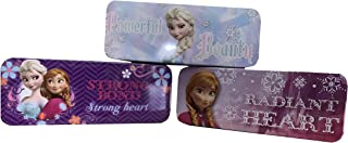 Set of 3 - Frozen Princess Pen, Pencil, and Marker Cases - Tin - 8 Inch