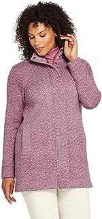Women's Plus Size Sweater Fleece Coat