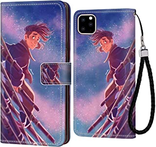 Case for iPhone 11 Pro 5.8 Inch Wallet with Stand Flip Card Credit Hold Full Body Protective Cover Jim Hawkins Treasure Island Animated Movie Wallpaper Magnetic Closure