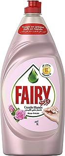 صابون سائل لغسل الاطباق برائحة بتلات الورد من فيري جنتل هاندز 1 لتر