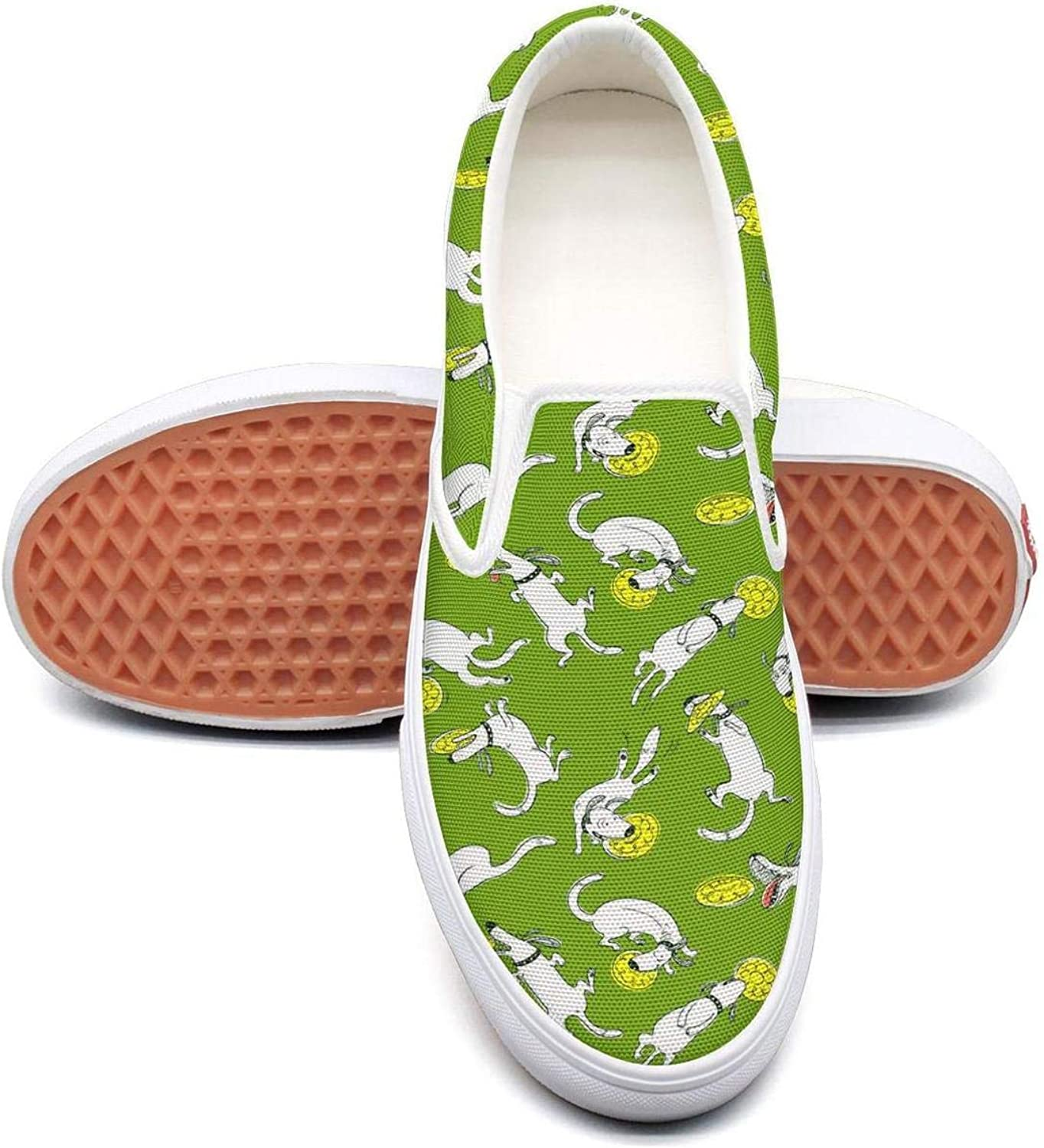 Uieort Lighweight Dog Puppy Skin Dalmatian Mens Slip On Canvas shoes Lightweight