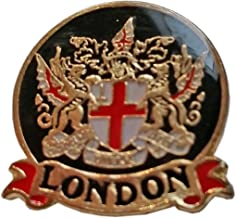 Enamel Pin Badge, London City Crest - London Souvenir Pin Badge Detailing City of London Crest