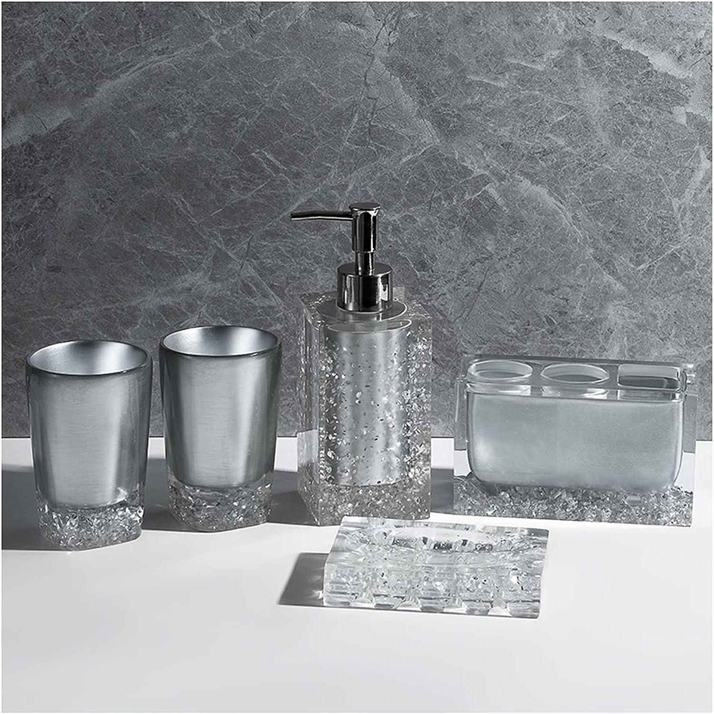 Soap Dispenser Bottle Lotion Resin 5-Piece Bathroom Recommendation Ac 2021