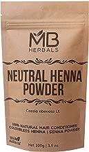 MB Herbals Neutral Henna Powder 100g | Senna Powder | Cassia obovata | Colorless Henna | Natural Hair Conditioner | For Soft Shiny & Healthy Hair