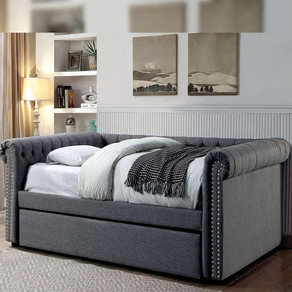 William's Home Furnishing Quantity limited Leanna Daybed Max 51% OFF Queen Gray