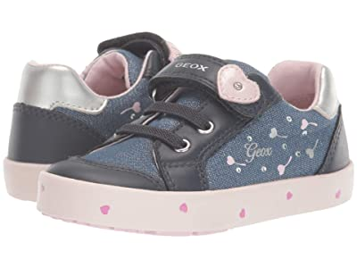 Geox Kids Kilwi 68 (Toddler) (Navy/Pink) Girl