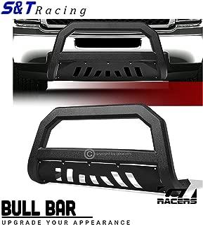 S&T Racing Textured Black Bull Bar AVT Edge Grille Guard 2011-2018 for Chevy Silverado/GMC Sierra 2500