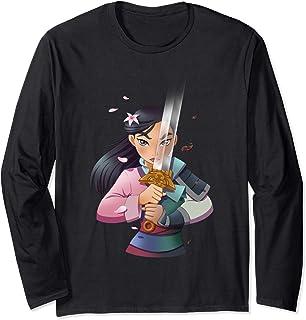 Disney Mulan Anime Half Girl Half Warrior Manche Longue