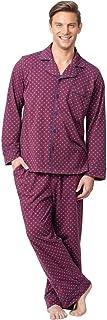PajamaGram Classic Mens Pajamas Cotton - Men Pajamas Set