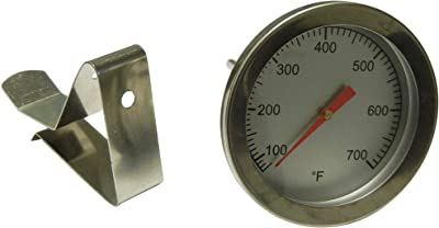 """Contemporary Home Living 2"""" Stainless Steel Heat Indicator for Big Green Egg and Vision Grill Gas Grills"""