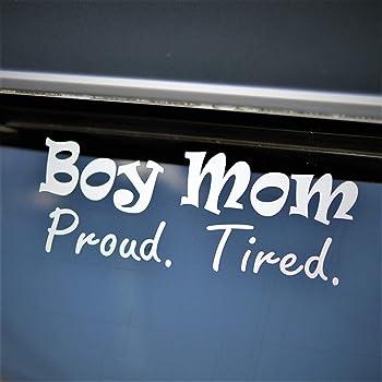 Boy mom just a girl raising boys baby on board Van Car Vinyl Decal Sticker truck