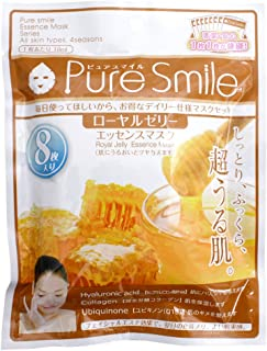 Japan Sun Smile Pure Smile Essence Face Mask Royal Jelly Extract 8l003 18ml X 8 Sheets Japan Cosmetics