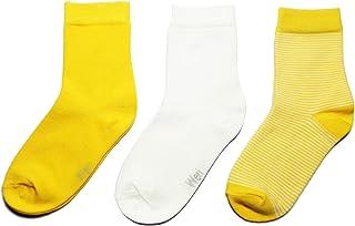 Weri Spezials, Calcetines para niños, pack de 3 unidades, para niños y niñas, de algodón orgánico certificado GOTS, tallas de 19 – 22 hasta 25 – 38, juego de 3 pares en 3 colores