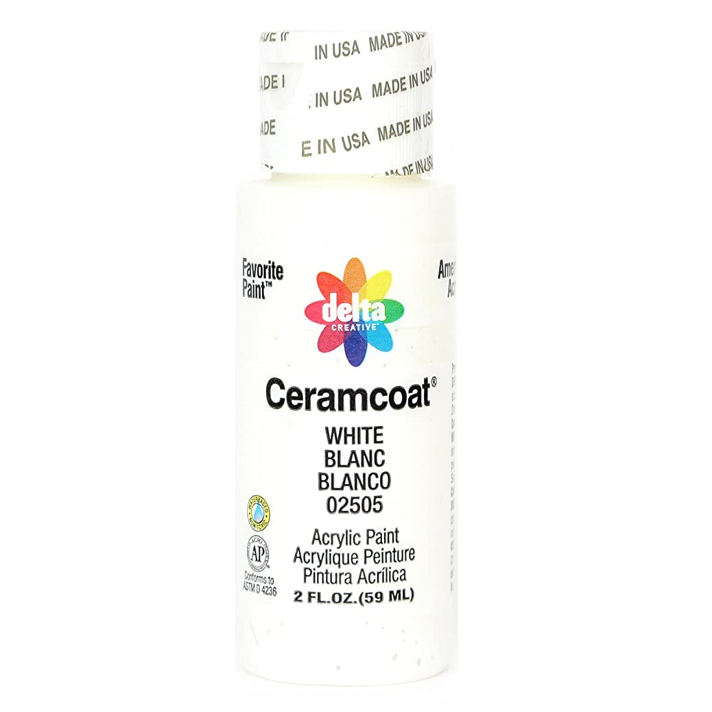 Delta Creative Ceramcoat Acrylic Paint in Assorted Colors (2 oz), 2505, White khbirabeco