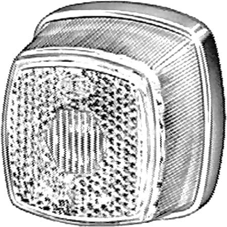Old Harvest 2x Anhänger Leuchte Markierung Caravan Trailer Begrenzungsleuchte Weiss 6v 12v 24v Positionsleuchte Reflektor Neu Auto