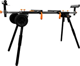 WEN MSA330 Collapsible Rolling Miter Saw Stand with 3 Onboard Outlets