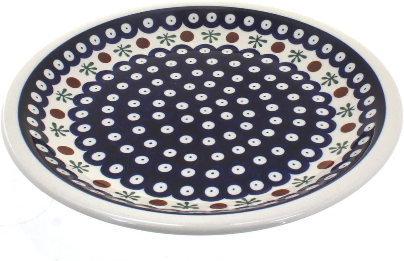 Blue Rose Polish Pottery Dinner Nature Small unisex Plate Gifts