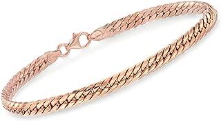 Ross-Simons Italian 14kt Rose Gold Cuban-Link Bracelet