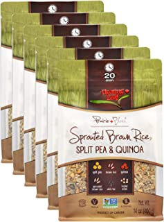 Floating Leaf Sprouted Brown Rice, Split Pea and Quinoa Blend - 14 ounces, 6 count - Gluten Free Brown Rice - Non GMO - Al...