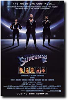 Mile High Media Superman II Movie Poster 24x36 Inch Wall Art Portrait Print - Christopher Reeve
