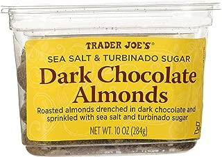 Trader Joe's Sea Salt & Turbinado Sugar Dark Chocolate Almonds (Pack Of 2)