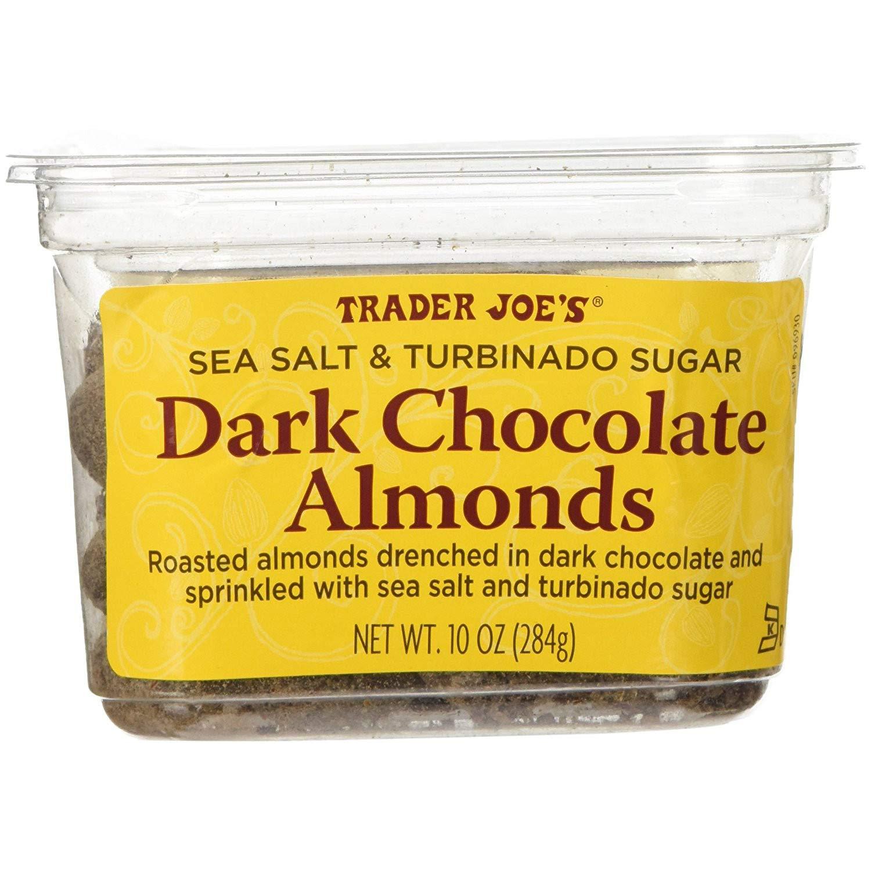 Trader Joe's Sea Salt Turbinado Almonds Chocolate 1 Genuine Free Shipping Sugar Dark lowest price