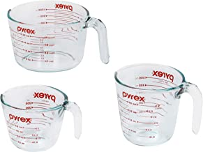 Pyrex 3-Piece Glass Measuring Cup Set, Clear (1118990)