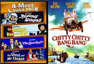 60's Family Fun Musical Comedy 5 Movie Pack Chitty Chitty Bang bang Dick Van Dyke + Don Kotts The Ghost and Mr Chicken / Reluctant Astronaut / The Love God? / The Shakiest Gun in the West Film Set