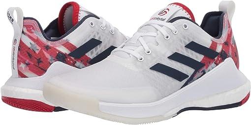Footwear White/Collegiate Navy/Power Red