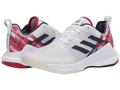 adidas Crazyflight Usav Edition (Footwear White/Collegiate Navy/Power Red) Women