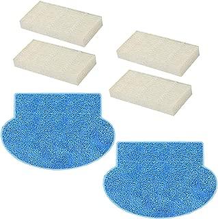 N / A Youriaa 4 filtros HEPA + 2 mopas para AMIBOT Prime/Pure/Pulse/Flex H2O