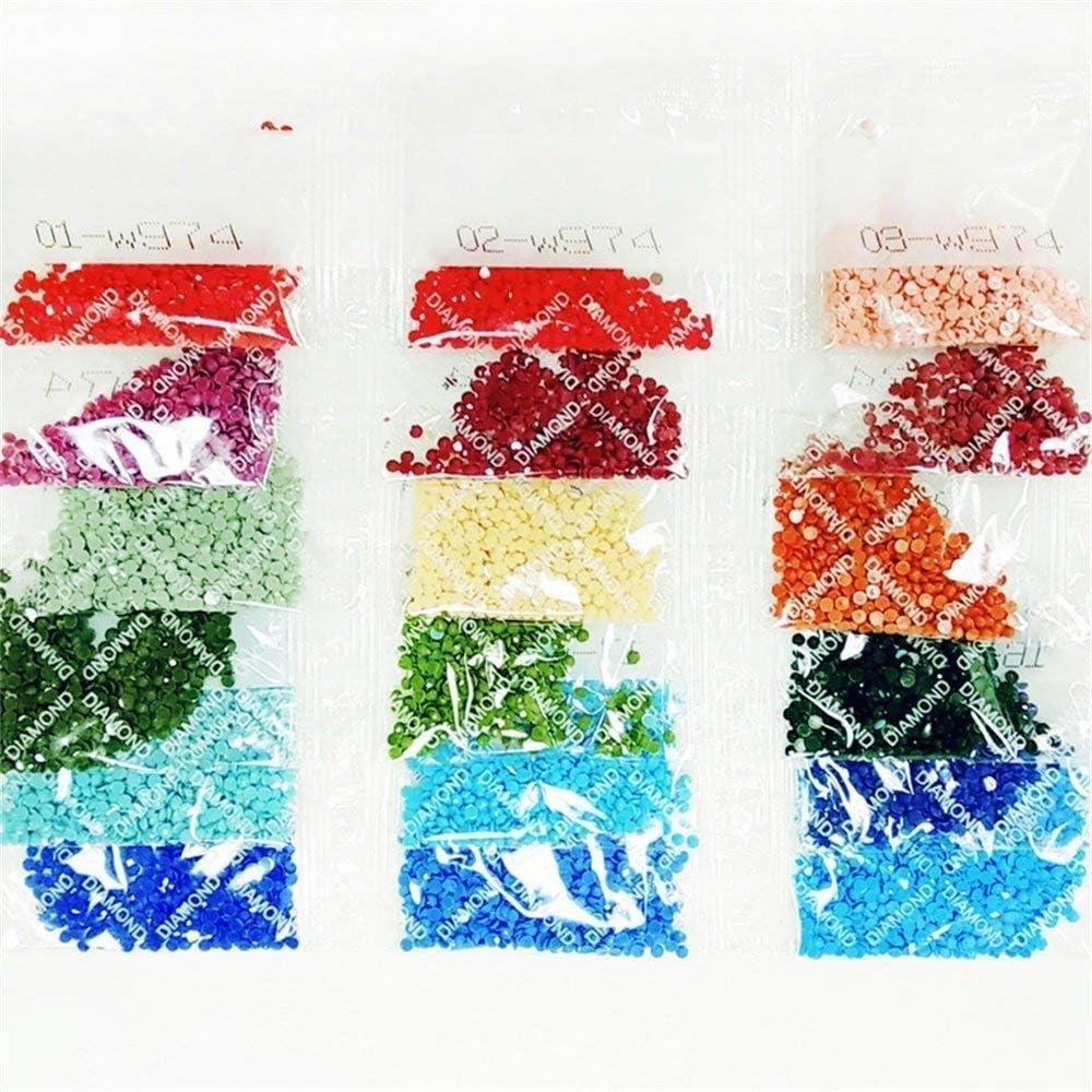 Diamant Schilderij Strass Borduurwerk Verf Door Aantal Kits Volledige Boor Grote Foto's Cross Stitch Voor Thuis Muurdecoratie DIY 5D Kunst Craft Rode Bos Stromende Water 180x70cm