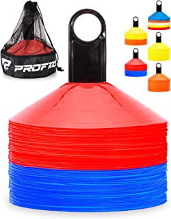 Sponsored Ad - Pro Disc Cones (Set of 50) - Agility Soccer Cones with Carry Bag and Holder for Training, Football, Kids, S...