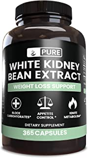 White Kidney Bean Extract, 365 Caps, 1840 mg Serving, No Rice or Stearate Filler, Keto-Friendly, Non-GMO & ...