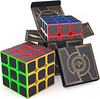 aGreatLife The Original Cube Carbon Fiber 3x3 - Super Sticky Stickers, Colorful Cubic Toy - Speed Cube II 3x3x3 Logic Puzz...
