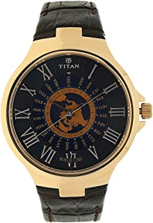 titan edge blue dial watch