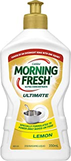 Morning Fresh Ultimate Lemon Dishwashing Liquid, Lemon 350 milliliters