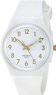 Classic Quartz Silicone Strap, White, 16 Casual Watch (Model: GW164)