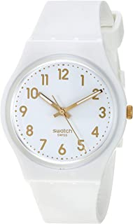 Swatch Classic Quartz Silicone Strap, White, 16 Casual Watch (Model: GW164)