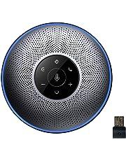 スピーカーフォン eMeet 会議用マイクスピーカー ワイヤレススピーカーフォン 遠隔会議用 最大8人まで対応 高音質 Bluetooth 4.2 USB接続 AUX出入力可能 各通話アプリ対応 多数人遠隔会話や大きい部屋でのWEB会議に OfficeCore M2 グレー