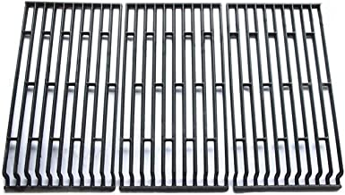 Hongso PCE693 Cast Iron Cooking Grid Replacement for Fiesta Blue Ember, Blue Ember FG50069LP, Blue Ember FG50069NG, FG500057-103, FG50057-703NG, FG50069 Gas Grill Models, Set of 3