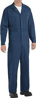 Red Kap Men's Button-Front Cotton Coverall - Blue - 52