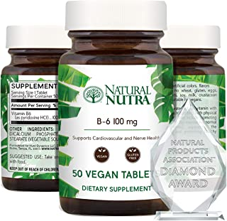 Sponsored Ad - Natural Nutra Premium Vitamin B6 (Pyridoxine Hydrochloride), Cardiovascular Supplement, Heart Support, Heal...